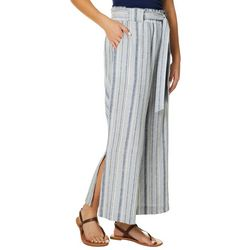 Indigo Rein Juniors Linen Striped Paperbag Waist Pants