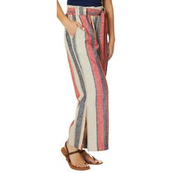 Indigo Rein Juniors Americana Striped Paperbag Waist Pants