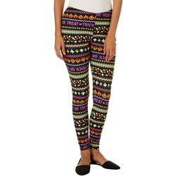 No Comment Juniors Fairisle Halloween Print Leggings