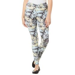 No Comment Juniors Speckled Geo Print Leggings