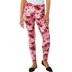 No Comment Juniors Wide Wasitband Tie Dye Print Leggings