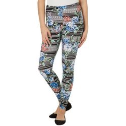 No Comment Juniors Geometric Floral Print Leggings