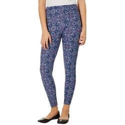 No Comment Juniors Ornate Print Leggings