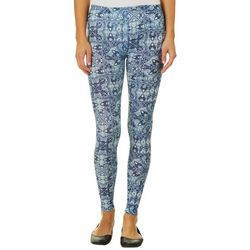 No Comment Juniors Mixed Medallion Leggings
