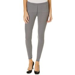 No Comment Juniors Houndstooth Print Leggings