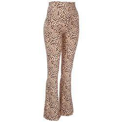 No Comment Juniors Leopard Printed Knit Flair Leggings