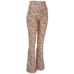 Juniors Leopard Printed Knit Flair Leggings