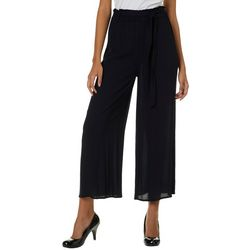Derek Heart Juniors Belted High Rise Palazzo Pants