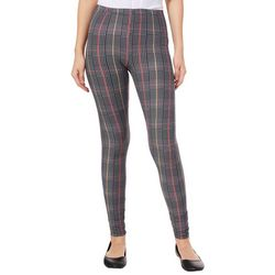 Derek Heart Juniors Plaid Houndstooth Leggings