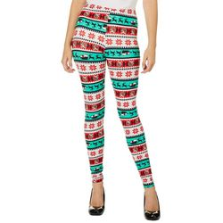 Derek Heart Juniors Striped Sleigh Leggings