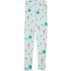 Juniors Xmas Flamingo Leggings