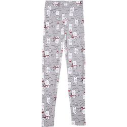 Derek Heart Juniors Xmas Polar Bear Leggings