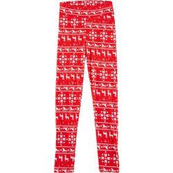 Derek Heart Juniors Striped Christmas Leggings