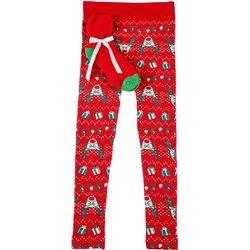 Derek Heart Juniors Xmas Reindeer Leggings & Socks