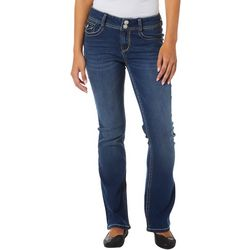 Wallflower Juniors Jeweled Pocket Denim Jeans