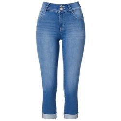 Wallflower Juniors Solid Denim Roll Cuff Jeans