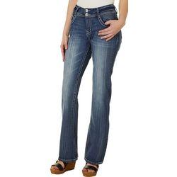 Wallflower Juniors Davina Embroidered Pocket Denim Jeans