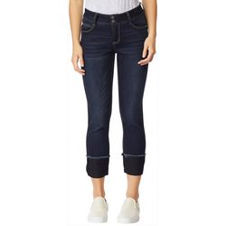 Wallflower Juniors Solid Cuff Hem Ankle Jeans