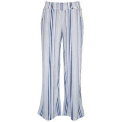 Almost Famous Juniors High Rise Striped Wide Pants