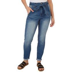 Juniors Self Tie Skinny Jeans