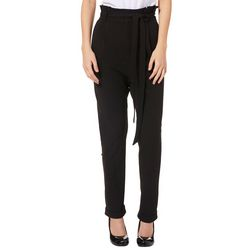 AF Studio Juniors Belted Solid Pull On Pants