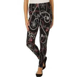 Full Circle Trends Juniors Holiday Chains Print Leggings
