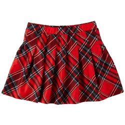 Jolie & Joy Juniors Check Plaid Skirt