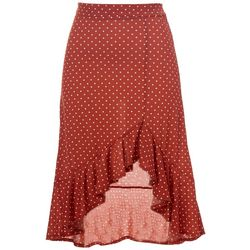 Juniors Dotted Print Skirt