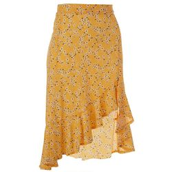 Juniors Floral Print Skirt