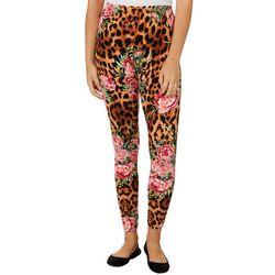 Full Circle Trends Juniors Floral Animal Print Leggings