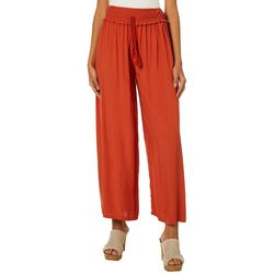 Shinestar Juniors Solid Crinkle Palazzo Pants