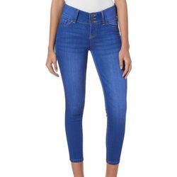 Celebrity Pink Juniors Whiskered Skinny Jeans