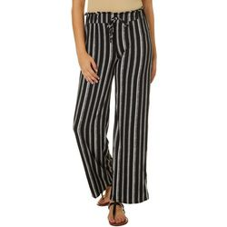 Joe Benbasset Juniors Vertical Striped Knit Wide Leg Pants