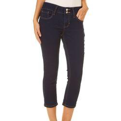 Blue Desire Juniors Curvy Double Button Denim Jeans