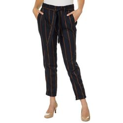 Angel Kiss Juniors Belted Vertical Striped Pants