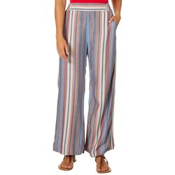 Angie Juniors Striped Wide Leg Pull On Pants
