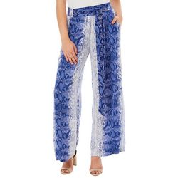 Angie Juniors Snake Print Wide Leg Pants