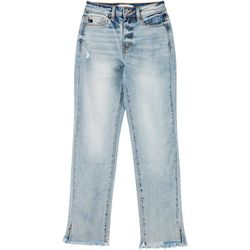 KanCan Juniors Frayed Hem Ankle Jeans