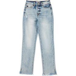 KanCan Juniors Frayed Hem Ankle Jeans