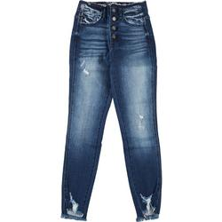 Juniors Mid Rise Skinny Ankle Jeans