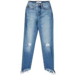 Juniors High Rise Distressed Skinny Ankle Jeans