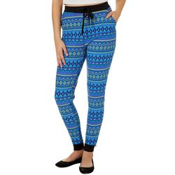 Just One Juniors Geo Striped Jogger Pants