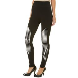Just One Juniors Graphic Stripe Leggings