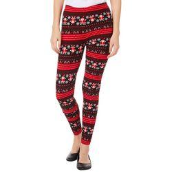 Just One Juniors Santa Striped Leggings