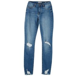 Rewash Juniors Fray hem Distressed Jegging