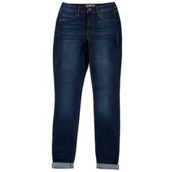 Rewash Juniors Roll Cuff Mid Rise Denim Jeggings