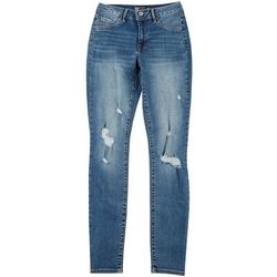 Rewash Juniors Distressed Denim Jegging