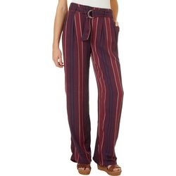 Rewash Juniors Striped Belted Trouser Pants