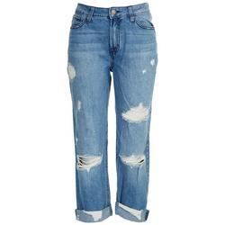 Juniors High Rise Straight Leg Jeans