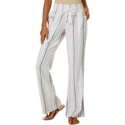 Rewash Juniors Vertical Striped Linen Pants